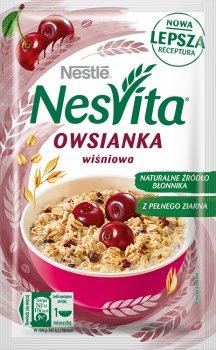Упаковка каші вівсяної Nestle NesVita солодка з молоком і шматочками вишні 21 шт. х 45 г (7613036971348)