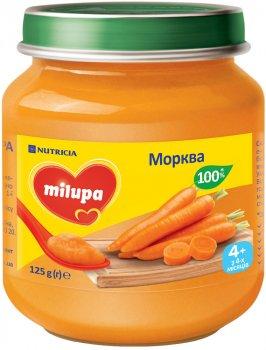 Упаковка овочевого пюре Milupa Морква для дітей від 4 місяців 6 шт. х 125 г (5900852041631)
