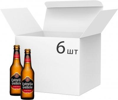 Упаковка пива Estrella Galicia Cerveza Especial светлое фильтрованное 5.5% 0.33 л х 6 шт (8412598023309_8412598023170)