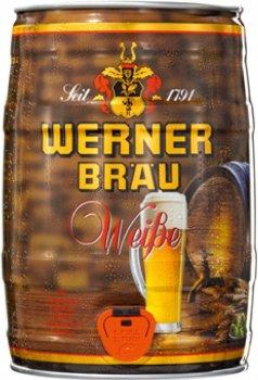 Пиво Werner Weissbier світле нефільтроване 5.4% 5 л (4047900005045)
