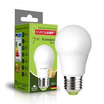 Довговічна світлодіодна енергоефективна лампа EUROLAMP LED A50 7W E27 матовий 4000K ЕКО (1000000559)