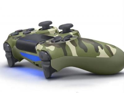Контроллер в стиле DualShock 4 PS4 wireless controller для плейстейшн ПК Хаки V2