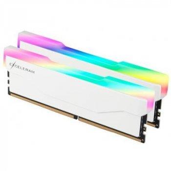 Модуль памяти для компьютера DDR4 16GB (2x8GB) 2666 MHz RGB X2 Series White eXceleram (ERX2W416269AD)