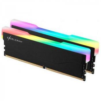 Модуль пам'яті для комп'ютера DDR4 32GB (2x16GB) 3200 MHz RGB X2 Series Black eXceleram (ERX2B432326CD)