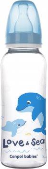 Бутылка Canpol babies PP Love & Sea 250 мл Голубой (59/400 Блакитний)