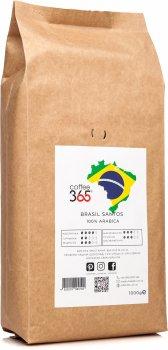 Кофе в зернах Coffee365 Brasil Santos 1 кг (4820219990192)