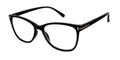 Очки для чтения унисекс пластиковая оправа Vesta 19331C1(+1.25) черные