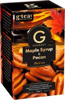 Чай G'tea чорний Gourmet Букет з кленовим сиропом і пеканом 20 пакетиків по 1.75 г (5060207697316)