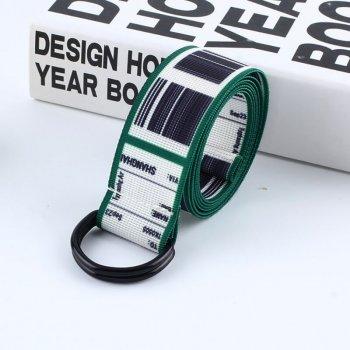 Ремень Пояс City-A TKS Штрих-код Belt 125 см Зеленый