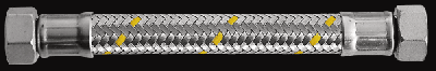 "Шланг газовий Parigi Sicurgas (0,3 м.) 1/2""x1/2"" (ВВ) в нержавіючої обплетенні (60268)"