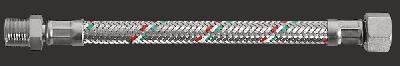 """Шланг гнучкий Parigi Parinox (Гайка-штуцер) 1/2""""x1/2""""x150 див. нержавіюча обплетення (60218)"""