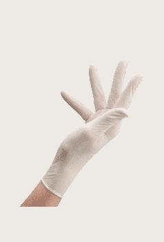Перчатки Латексные Опудренные CARE365 Белые M (100 шт)