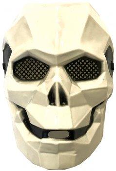 Маска пластиковая Карнавал Киборг череп Белая 16х24х11 см KMP-8185 (2200000003706)