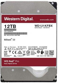 Жорсткий диск Western Digital Red Pro NAS 12TB 7200rpm 256MB WD121KFBX 3.5 SATA III