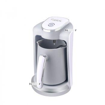 Кофеварка для дома электрическая турка на 4 чашки 250мл 400Вт Lexical White (LCP-0520)
