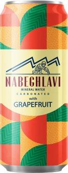 Упаковка минеральной газированной воды Набеглави Грейпфрут 0.33 л х 24 банки (4865602001628)