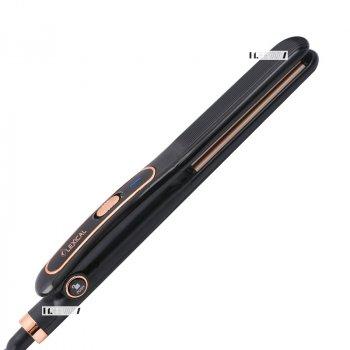 Утюжок випрямляч щипці для волосся професійний з керамічним покриттям Lexical 35Вт Black (LHS-5301)