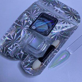 Втирка Аврора (єдиноріг) для дизайну нігтів Global Fashion Aurora №6