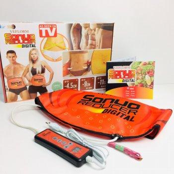 Пояс для похудения Elite Sauna Reducer Velform EL-320-16 3 режима + пульт 55 Вт для талии, бедер и ягодиц Оранжевый