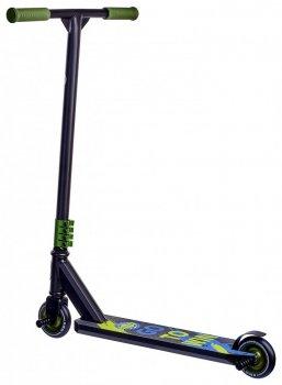Трюковий самокат з 2 пегами Maraton Active Original 2020 трюкової чорний зелений для фрістайлу + захист