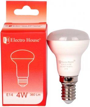 Світлодіодна лампа Electro House R39 4 W 4100 K E14 360 Lm 4 шт. (EH-LMP-R39)