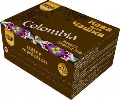 Кофе молотый прессованный для заваривания в чашке UCC 1 CUP Колумбия 20 шт (4820230023473)