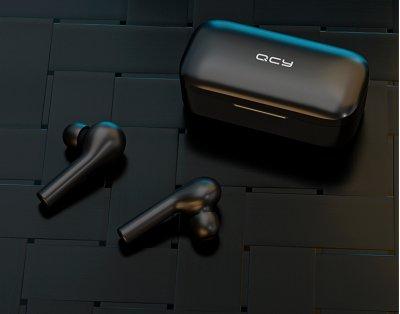 Навушники QCY T5 TWS Bluetooth Black (6957141405505)