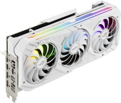 Asus PCI-Ex GeForce RTX 3070 ROG Strix Gaming OC White Edition 8GB GDDR6 (256bit) (1935/14000) (2 x HDMI, 3 x DisplayPort) (ROG-STRIX-RTX3070-O8G-WHITE)
