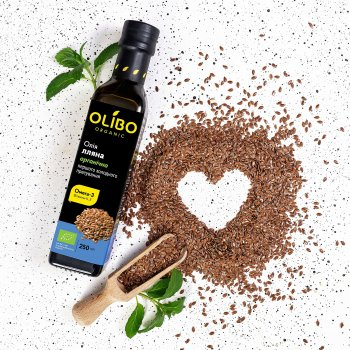 Масло из семян льна Olibo органическое 250 мл (4820184310469)