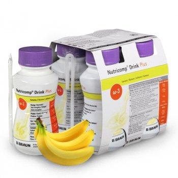 Энтеральное питание B. Braun Нутрикомп Дринк Плюс 200 мл Банан х 4 шт (3571010)