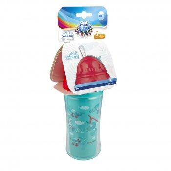 Пляшечки для годування Canpol Babies Пляшка з силіконовою трубочкою Літаки 260 мл (74/052)
