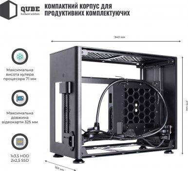 Корпус QUBE A4 Black (QBA4I_WBNU3)