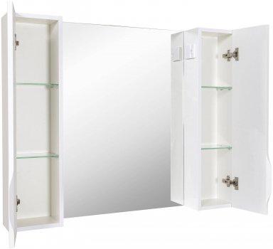 Зеркало AQUA RODOS Ассоль с подсветкой и с пеналами справа и слева 100 см