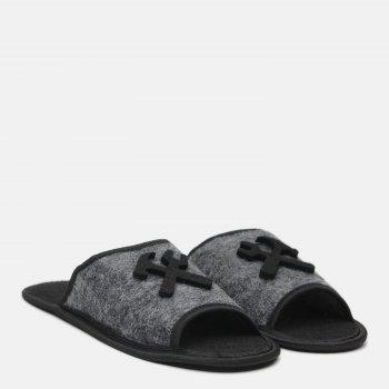Комнатные тапочки FX shoes 2022 Серо-черные