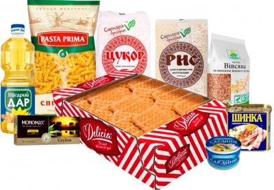 Благотворительный продуктовый набор от Красного Креста (9 позиций в наборе)