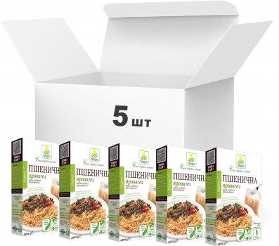 Упаковка крупы пшеничной Терра Яровой №2 быстрого приготовления в варочном пакете 400 г х 5 шт (4820015737243)