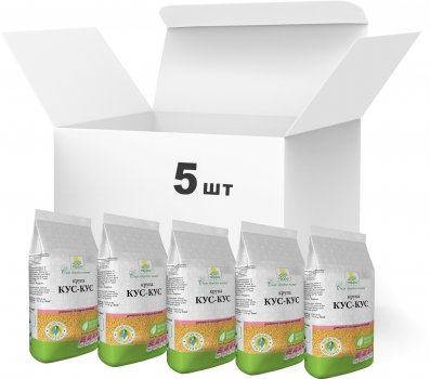 Упаковка крупы Терра Кускус №2 быстрого приготовления 500 г х 5 шт (4820015737199)