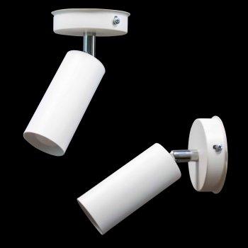Світильник настінно-стельовий 100lamp Loft Е-27, метал, похилий механізм (NL 1105-1W)