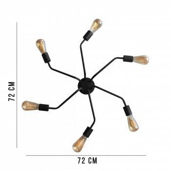 Світильник стельовий 100lamp Loft Е-27 метал, чорний (NL 7272/6)