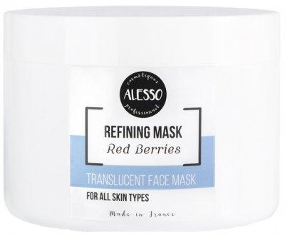 Альгинатная маска для лица Alesso полупрозрачная с Красными ягодами антиоксидантная 200 г (3273629288433)
