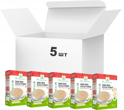 Упаковка пластівців Терра вівсяних швидкого приготування 600 г х 5 шт. (4820015737366)