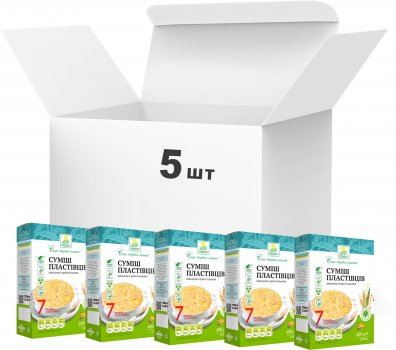 Упаковка хлопьевой смеси Терра 7 видов зерновых быстрого приготовления 600 г х 5 шт (4820015737403)