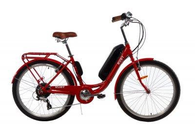 Электровелосипед женский Dorozhnik RUBY 36V 14AH 500W красный (RUBYZPR)