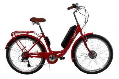 Электровелосипед женский Dorozhnik RUBY 36V 14AH 350W передний привод красный (RUBYPPRED)