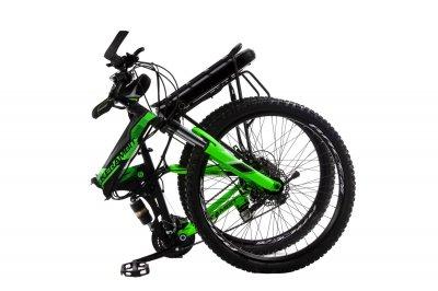 """Электровелосипед Kerambit 26"""" 17"""" 36V 12Ah 500W складной с багажником черно-зеленый (EKCHZ)"""