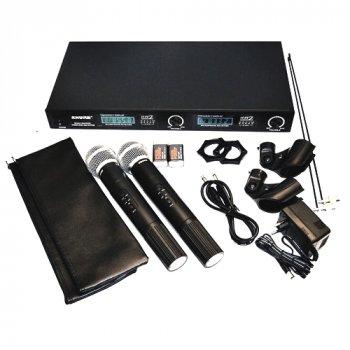 Радіосистема UHF-LX88-III, 2 бездротових мікрофона і база, в кейсі