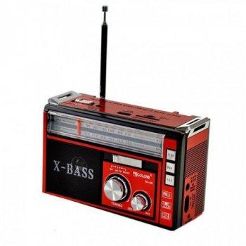 """Радіоприймач GOLON RX-382 с MP3, USB + ліхтарик.Радіоприймач c USB/SD функцією і знімним акумулятором торгової марки """"GOLON"""""""