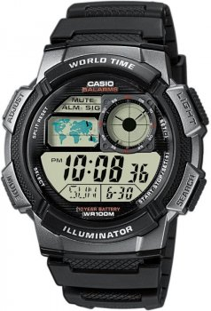 Чоловічі наручні годинники Casio AE-1000W-1BVEF