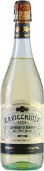 Вино ігристе GIV Cavicchioli Lambrusco Emilia Bianco Dolce Біле напівсолодке 0.75 л 7.5% (8001900628051)