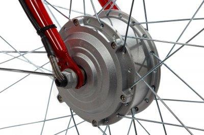 Электровелосипед женский Dorozhnik RUBY 36V 10AH 350W передний привод красный (RUBRED)
